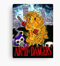 Army of Dangers, a guinea pig Army of Darkness Canvas Print