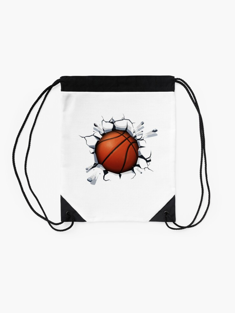 Alternate view of Basketball Smash Drawstring Bag