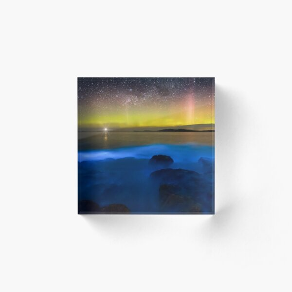 Sea Sparkle Aurora Acrylic Block