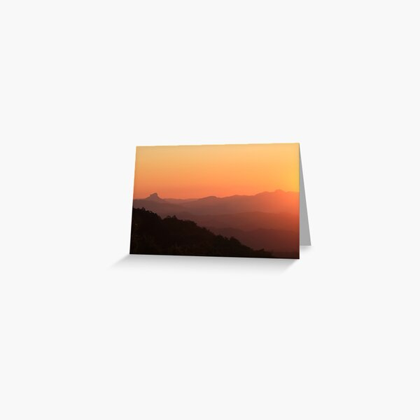 There's nothing like a mountain sunset Greeting Card
