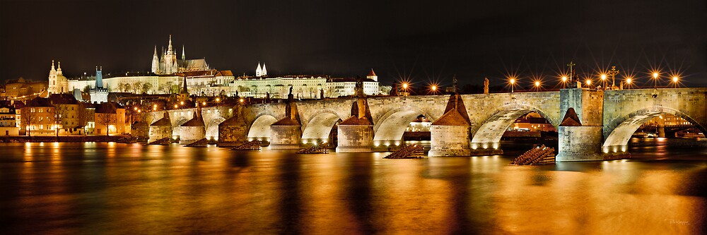 Prague Castle & Charles Bridge, Czech Republic by Petr Klapper