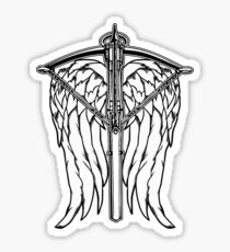 Angel Wings and Crossbow (Clean) Sticker