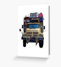 Desert Expedition Truck Greeting Card