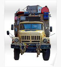 Desert Expedition Truck Poster