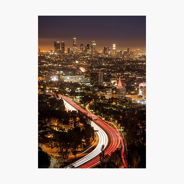 Hollywood Bowl Overlook Photographic Print