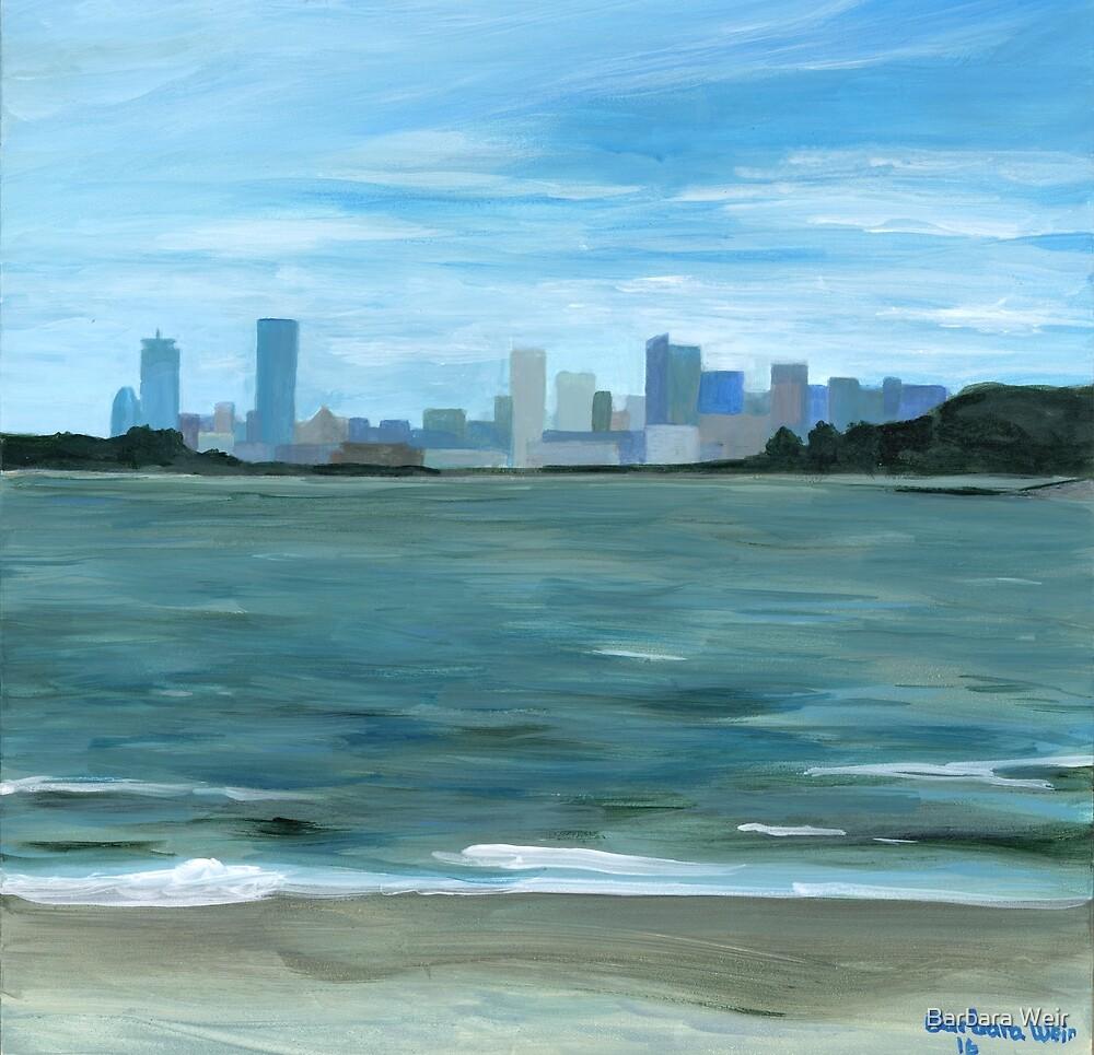 Boston from Georges Island by Barbara Weir