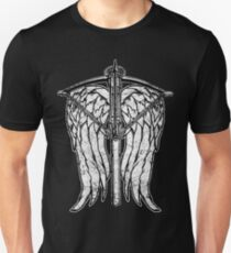 Angel Wings and Crossbow (Dirty) Slim Fit T-Shirt