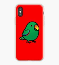 Chubby Male Eclectus Parrot iPhone Case