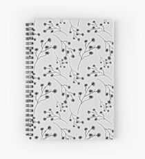 Baby's Breath Flower Pattern - White Spiral Notebook