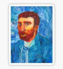 Van Gogh Self Portrait - Remastered Sticker