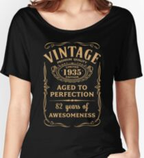Golden Vintage Limited 1935 Edition - 82nd Birthday Gift Women's Relaxed Fit T-Shirt