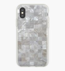 Mother Of Pearl White Square Pattern iPhone Case