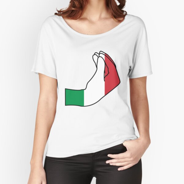 Bonjour italien T-shirt coupe relax