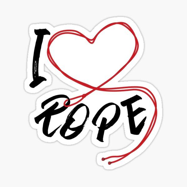 I Heart Rope - I Love Rope Bondage Sticker