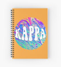 Groovy Kappa Spiral Notebook