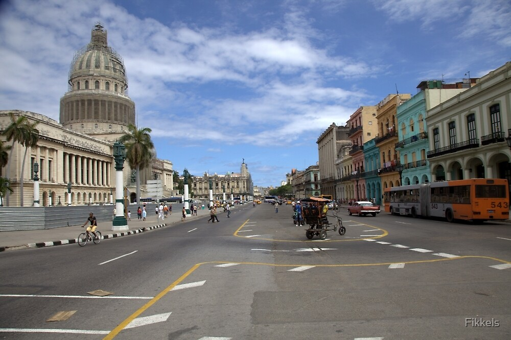 Old Havana, Capitolio by Fikkels
