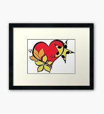 Love flower star colourful Framed Print
