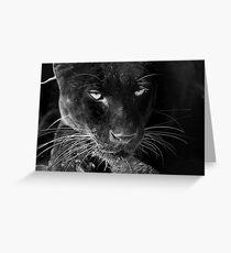 Obsidian - Black Leopard Greeting Card