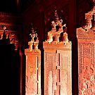Agra Fort Architectural Detail by Barbara  Brown