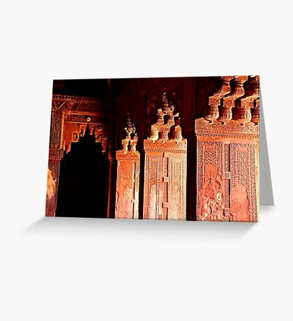Agra Fort Architectural Detail Greeting Card