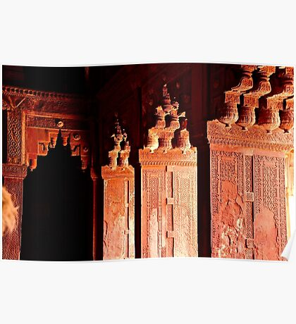 Agra Fort Architectural Detail Poster