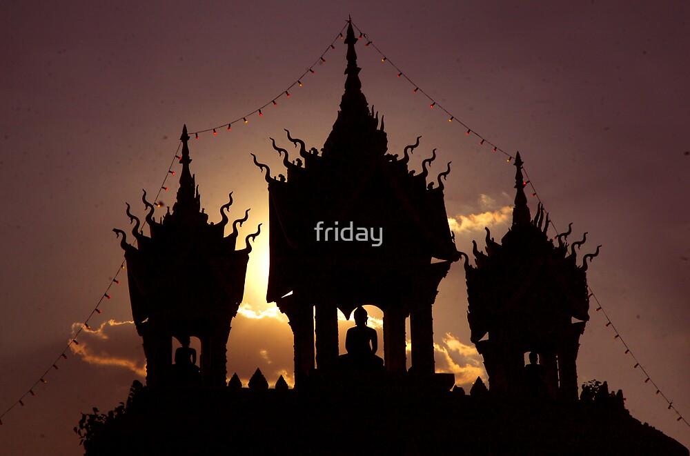 buddha sunset by Amagoia  Akarregi