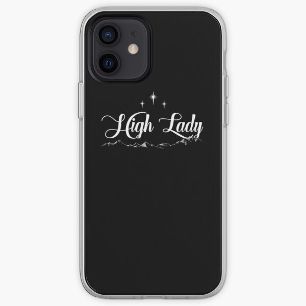 High Lady of The Night Court (Black) iPhone Soft Case