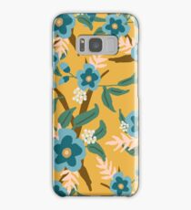 Yellow Floral Samsung Galaxy Case/Skin