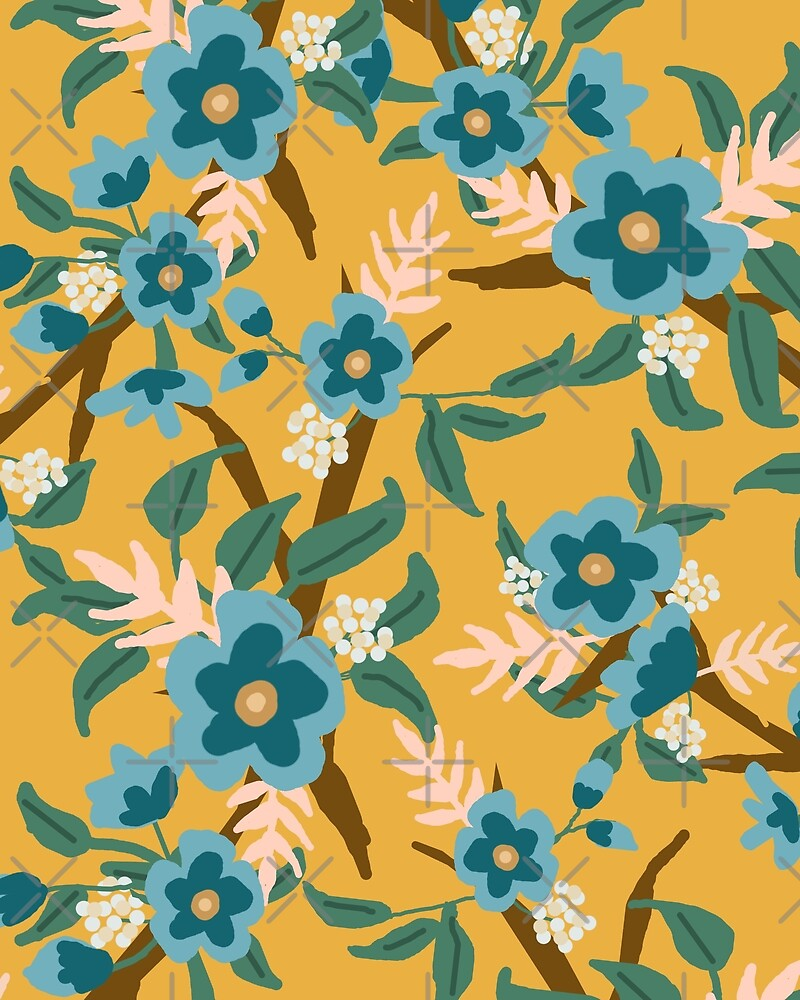 Yellow Floral by loveperiwinkle