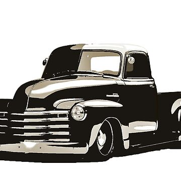 50 chevy truck sepia by Snowballs