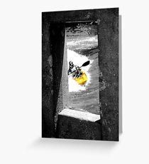 Concrete Kayaker  Greeting Card