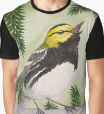 Black-throated Green Warbler Graphic T-Shirt