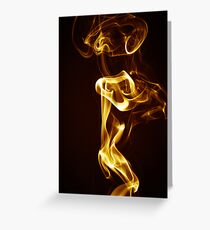 Golden Smoke Greeting Card