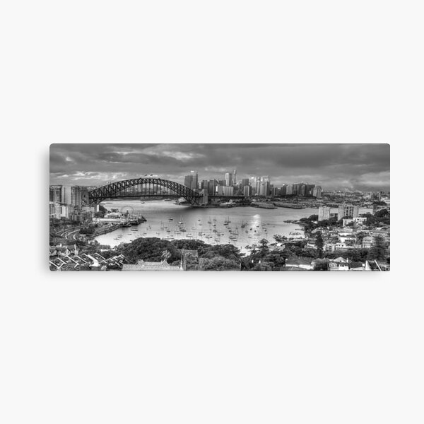 It's All Black and White - Sydney Harbour (20 Exposure HDR Panoramic) - The HDR Experience Canvas Print