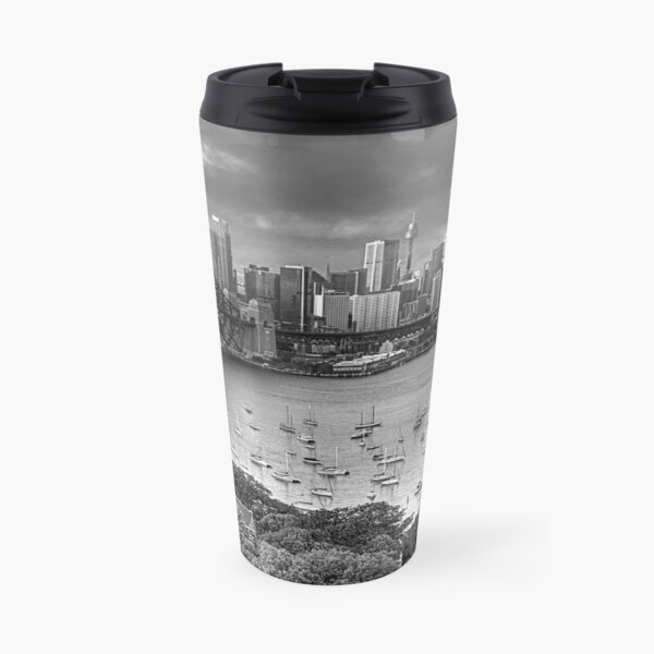It's All Black and White - Sydney Harbour (20 Exposure HDR Panoramic) - The HDR Experience Travel Mug