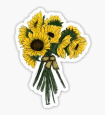 Sonnenblume-Blumenstrauß Sticker