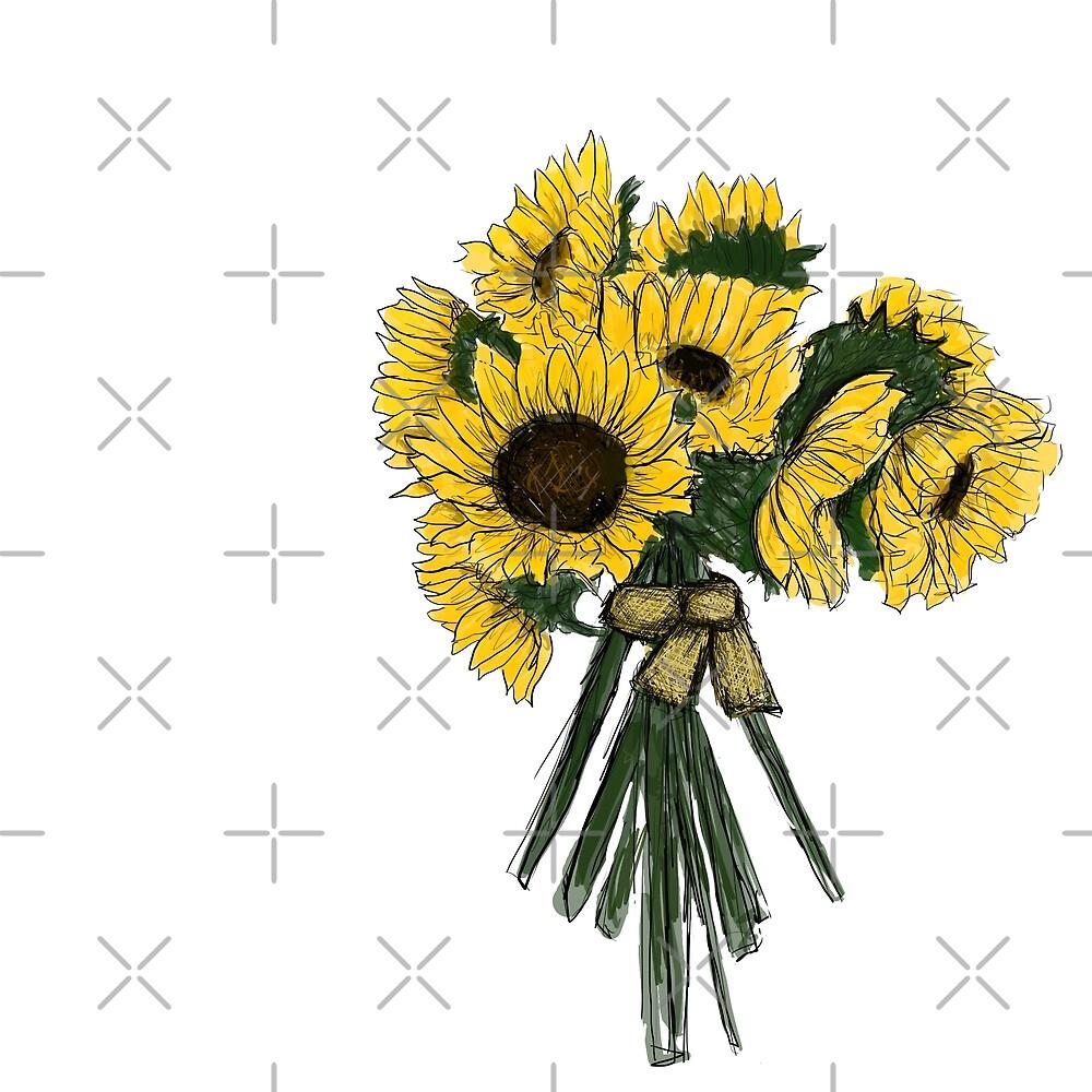 Sunflower Bouquet  by haleyerin