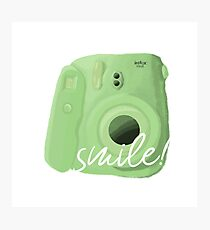 Green Polaroid Photographic Print