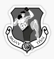 Muay Thai Crest Sticker