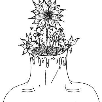 Flowers In Her Head by iamkart