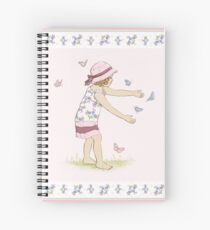 Butterfly Girl Two (Companion to Butterfly Girl) Spiral Notebook