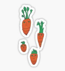 seemingly indifferent carrots Sticker
