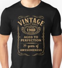 Golden Vintage Limited 1988 Edition - 29th Birthday Gift T-Shirt