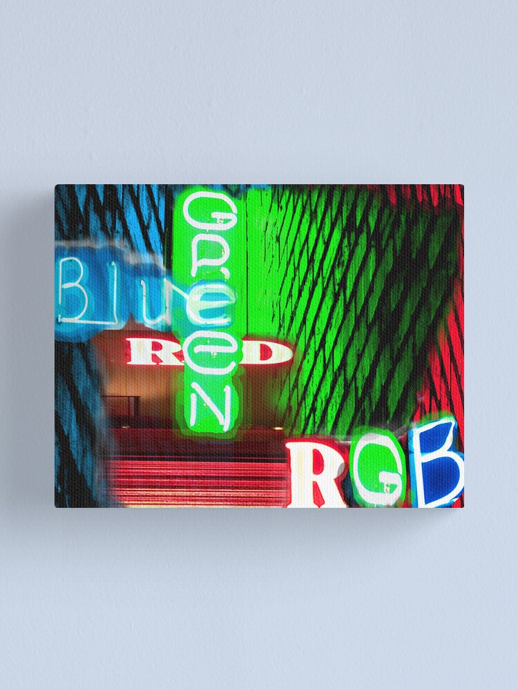 Alternate view of RGB Canvas Print