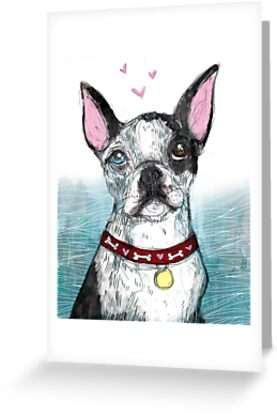 Boston Terrier by inkedinred
