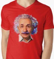 Albert Einstein - Galaxy Mens V-Neck T-Shirt