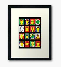 Faces of Carrey Framed Print