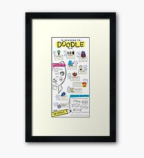 10 Reasons to Doodle Infographic Framed Print