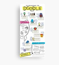 10 Reasons to Doodle Infographic Canvas Print