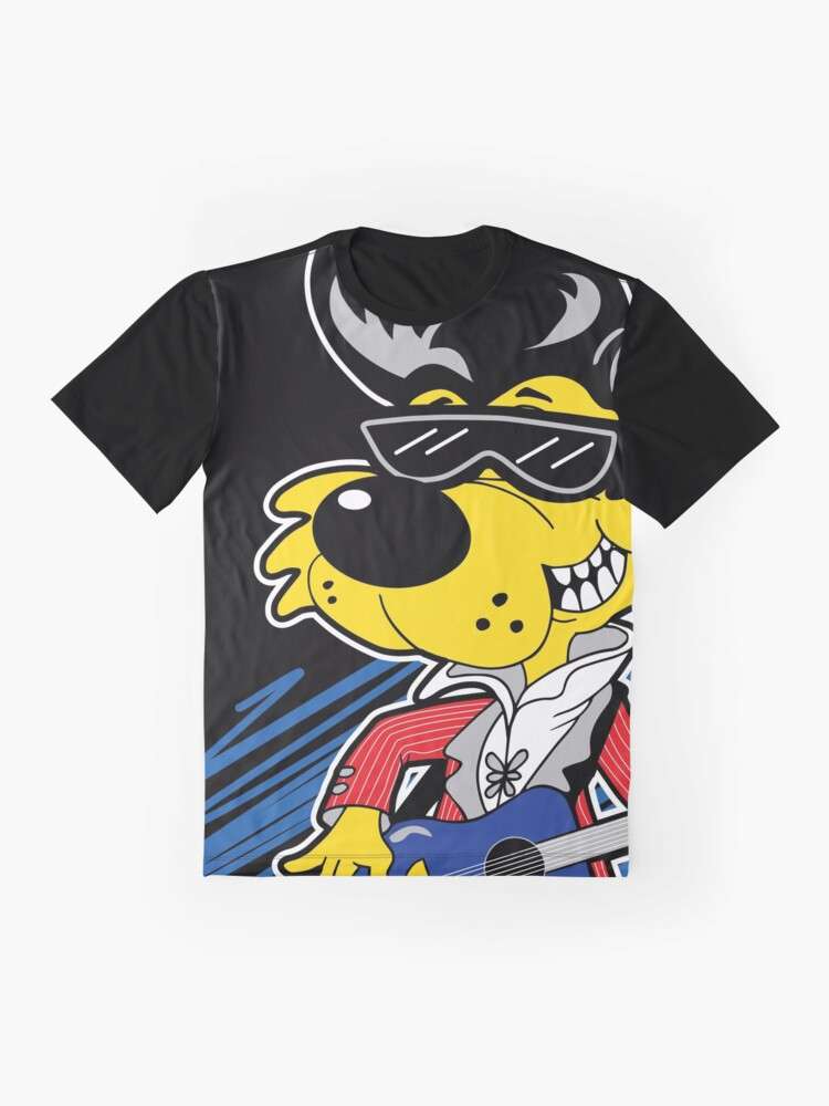 Alternate view of KOOLY KAT - Cropped Black Graphic T-Shirt